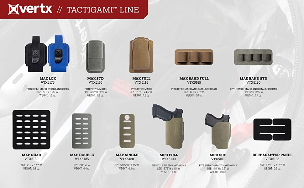 vertx, tactigami, mak, lok, magazine, pouch, tactical, gear, organization, velcro, storage, holster