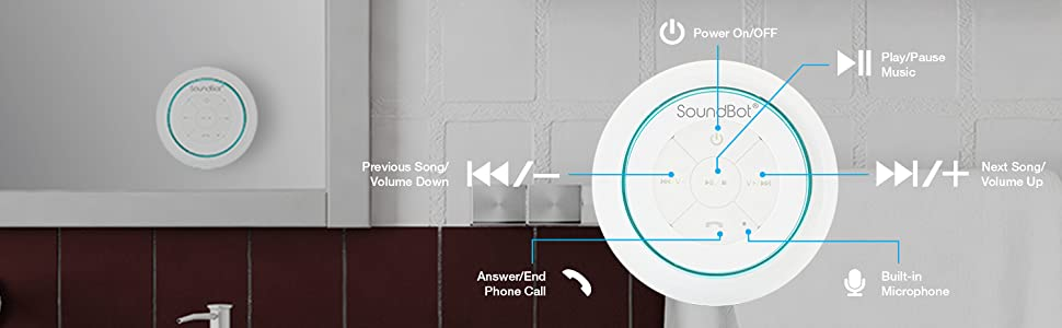main features power on off play pause previous next song volume up down microphone answer end call