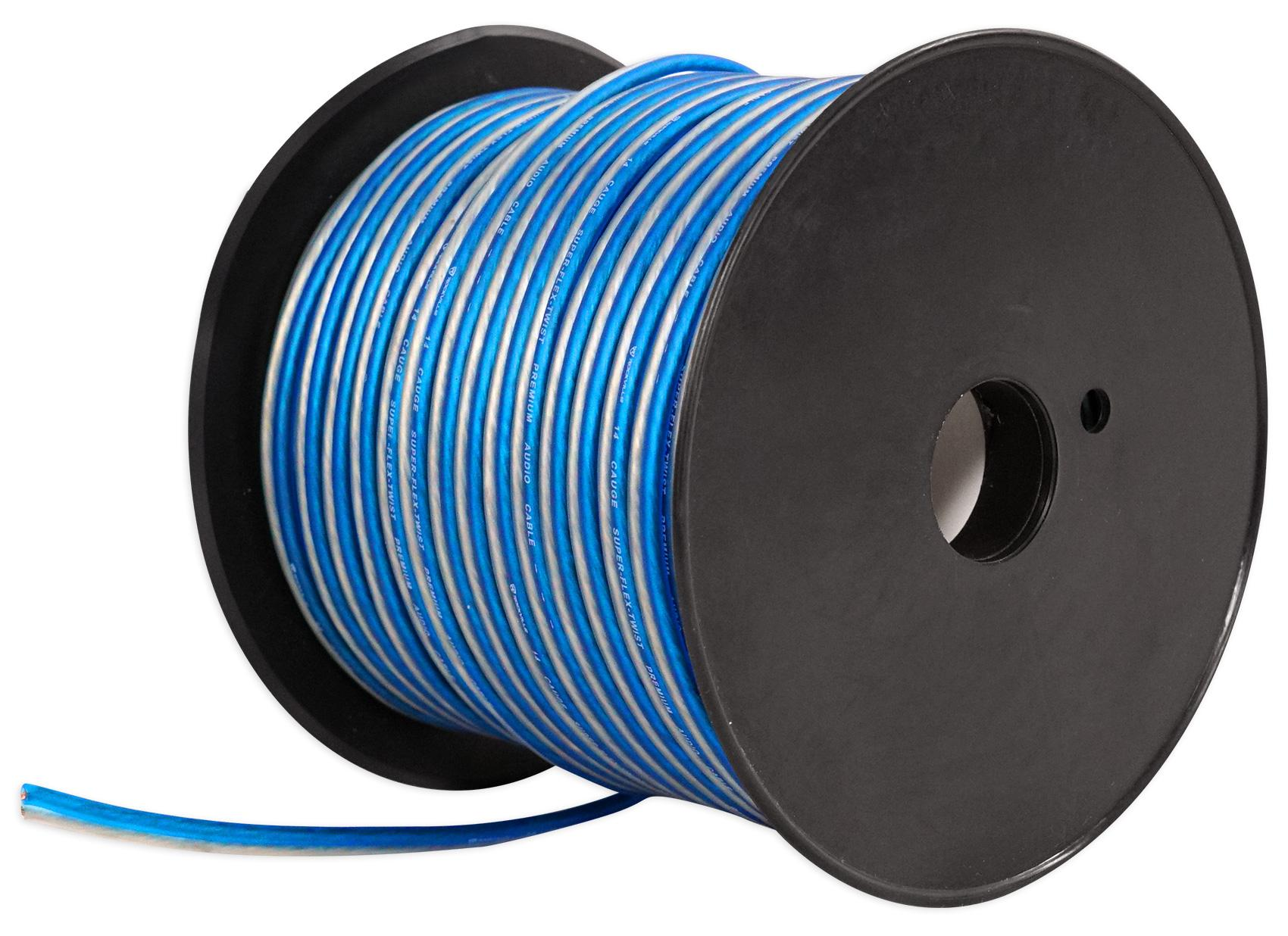 Amazon.com: Rockville R14GBLS200 Silver/Blue 14 Gauge 200\' Ft Spool ...