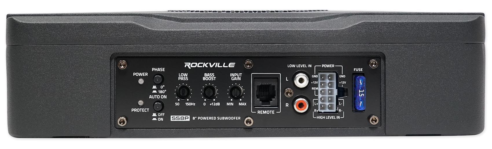 "Amazon.com: Rockville SS8P 400w 8"" Slim Under-Seat Active"