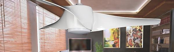 Sulion Mustang Ventilador De Techo, Blanco: Amazon.es: Iluminación