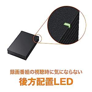 後方配置LED