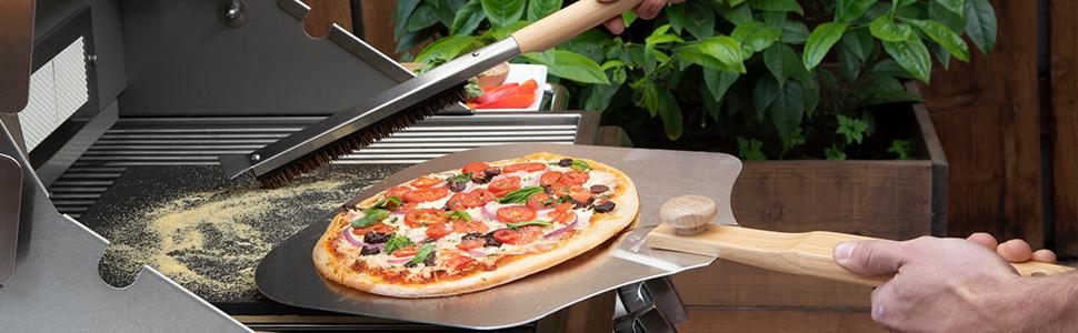 Pizzacraft Long Handled Pizza Stone Brush