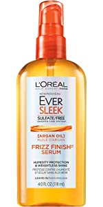 Ever, sulfate free, hair serum, loreal, frizzy hair