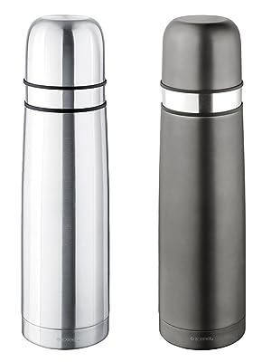 ISOSTEEL Isolierflasche Slimline Isolierkanne Thermo Kanne Schraubverschluss