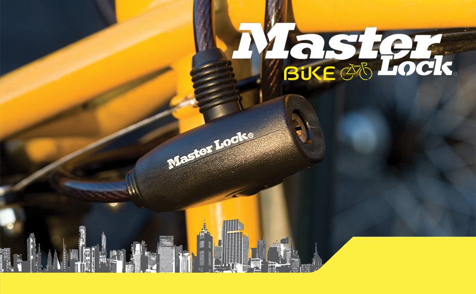 master lock, cable, llaves