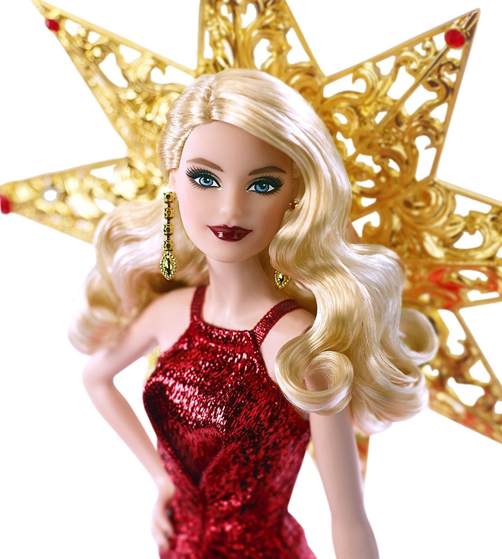 Amazon.com: Barbie 2017 Holiday Doll, Blonde Hair: Mattel ...