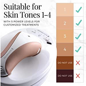 suitable skin tone hair removal reduction system device ipl ilight