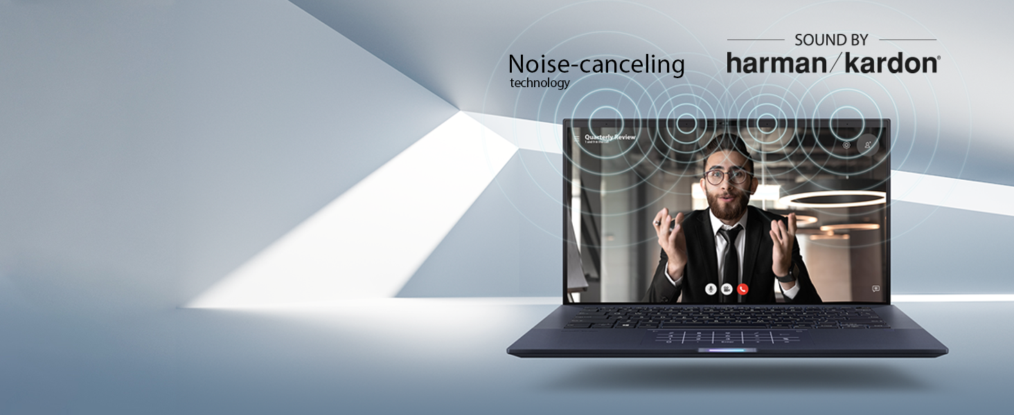 Noise-canceling audio with Harman Kardon Speakers