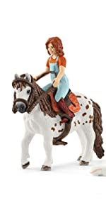 Schleich Horse Club Mia and Spotty 9-piece Movable Playset Great Gift for Girls Ages 5 and up
