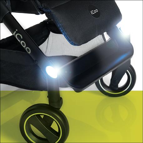 icoo 151532 acrobat kinderwagen xl plus trioset schwarz baby. Black Bedroom Furniture Sets. Home Design Ideas