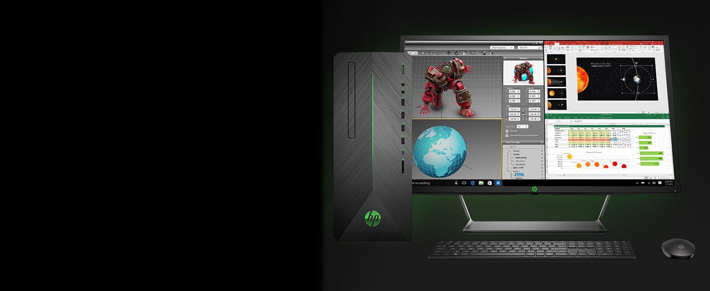 amazon com hp pavilion gaming pc desktop computer intel core i5 rh amazon com