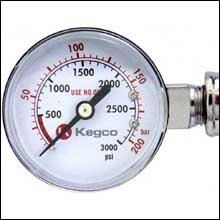 Side Gauge Measures CO2 Volume in the Tank