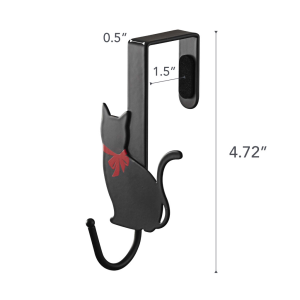 Dimension image for Cat Over-the-Door Hook (Set of 2) on a white background