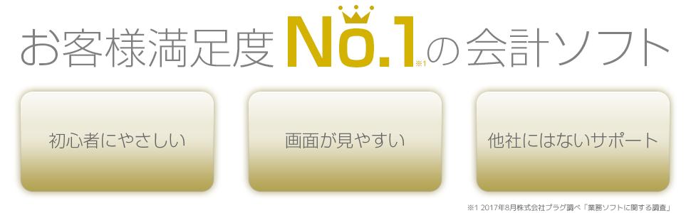 お客様満足度No.1の会計ソフト