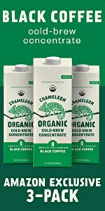 3-Pack Chameleon Organic Black Coffee Cold-Brew Concentrate