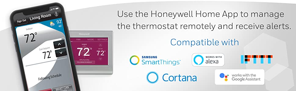 Honeywell Home, smart home app, works with alexa, works with google assistant
