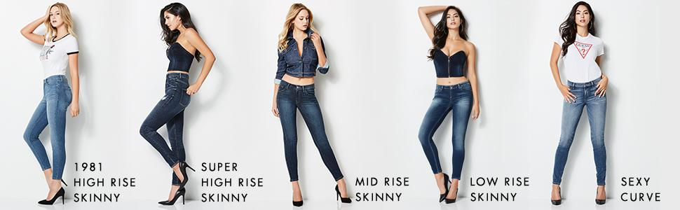 GUESS Womens Sexy Curve Skinny Jean