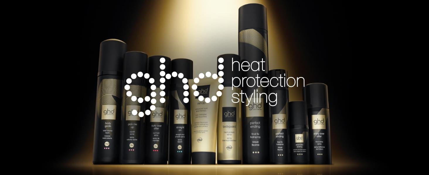 ghd, productos para el pelo ghd, spray de protección térmica ghd, ghd bodyguard, ghd heat protect