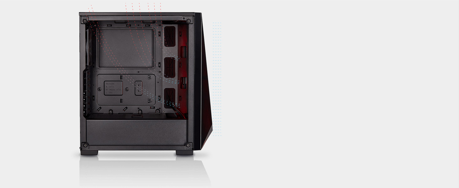Carbide Series SPEC-DELTA RGB Tempered Glass Mid-Tower ATX Gaming Case — Black