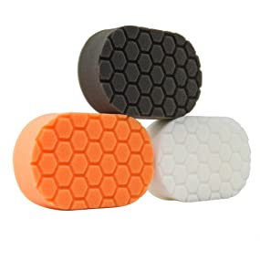 Chemical Guys Hex Logic Hand Pad Black Soft Applicator Sponge