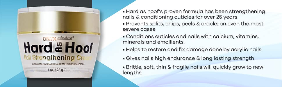 Onyx Professional Hard as Hoof Nail Strengthening Growth Cream & Cuticle Conditioner