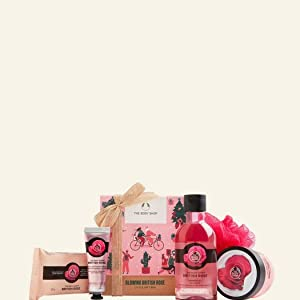 British Rose Gift Set with floral body care treats made with the essence of handpicked rose petals