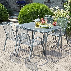 greemotion Table de jardin rectangulaire Toulouse 140 x 90 ...