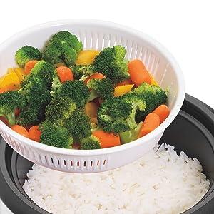 Cocina verduras al vapor con la arrocera 37528