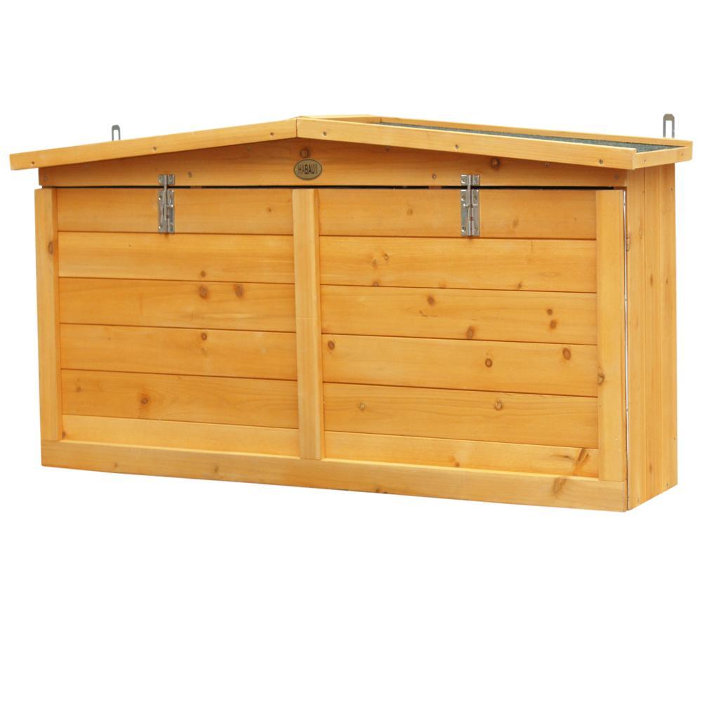 habau wandschrank mit arbeitsplatte gelb 117 x 27 x 50 cm garten. Black Bedroom Furniture Sets. Home Design Ideas