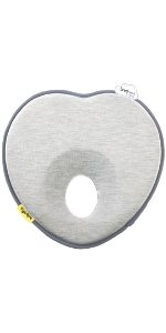 baby pillow to prevent flat head syndrome or plagiocephaly