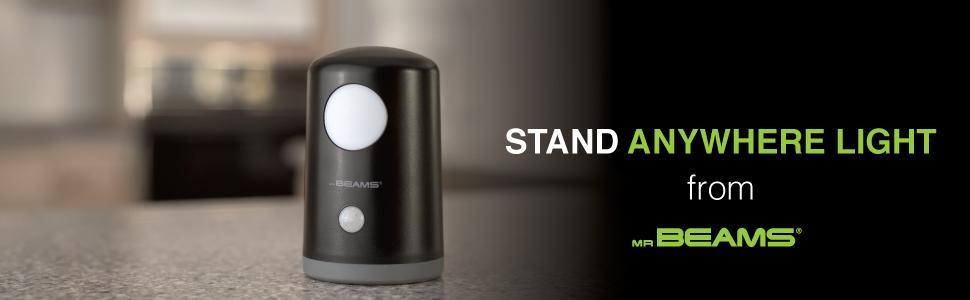 1-Pack Black Beams MB750-BLK-01-01 Wireless Battery-Operated Portable Motion-Sensing LED Nightlight//Table Light Mr
