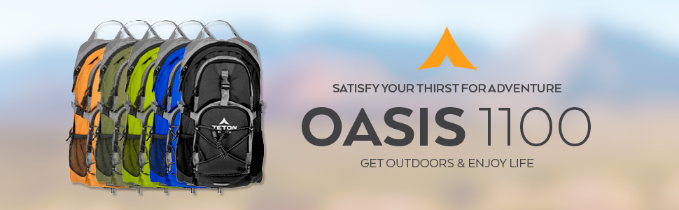TETON Sports Oasis 1100 Hydration Backpack. Satisfy your thirst for adventure