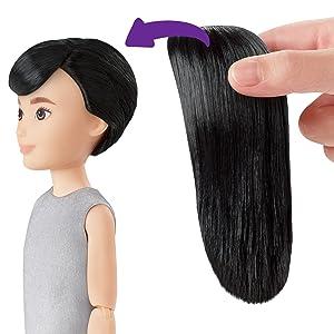 """1m fai da te Parrucca di capelli neri per ob AZONE 12/"""" Action Figure Bambola No.1"""