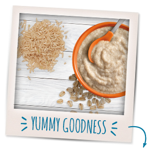 The ingredients in our cereals help baby grow up healthy and happy!