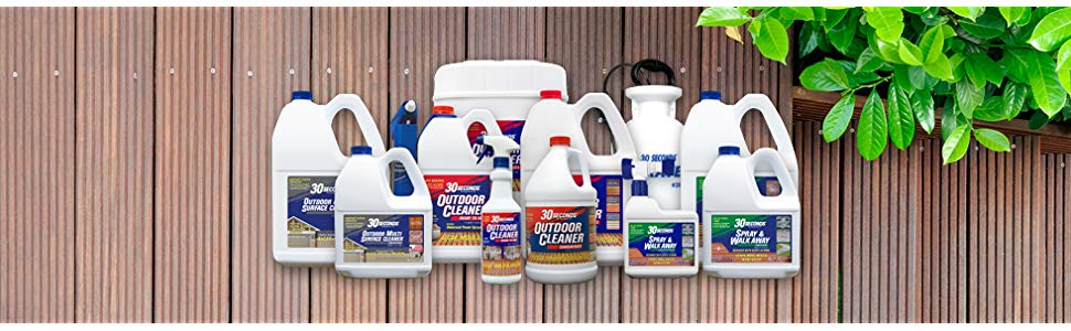 30 seconds outdoor cleaner product family spray and walk away degreaser multi purpose cleaner