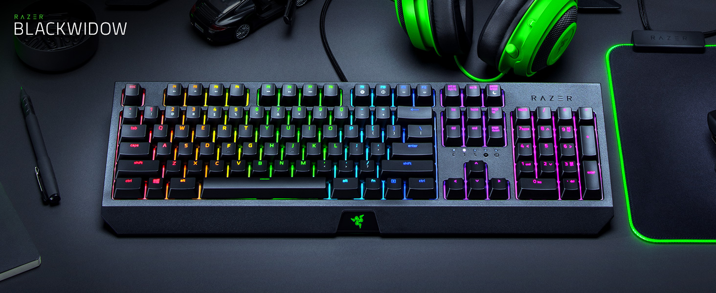 Razer BlackWidow, Gaming Keyboard, Esports, Mechanical Keyboard, Green Switch