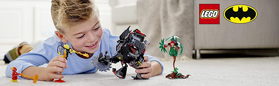 LEGO 76117 Batman Versus Poison Ivy Mech Building Kit, Colourful