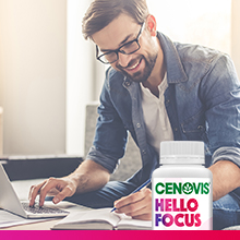 Easy to navigate and easy to take, Cenovis Hello can help you stay at your healthy best
