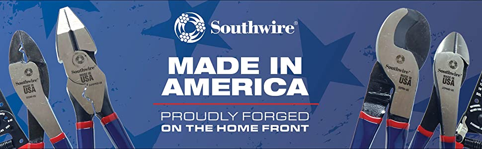 Southwire tools, made in america, hand tools, wire strippers, cable cutter, USA