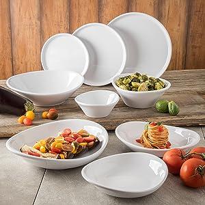 Stadia dinnerware, organic dinnerware, melamine dinnerware, melamine plate, melamine bowl, classic