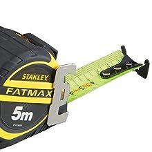 Stanley, meetlint, meetlint, meetlint, powerlock, zwart, geel, bouwplaats, meten.