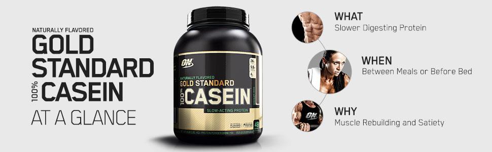 optimum nutrition Gold standard 100% Natural Casein At A Glance