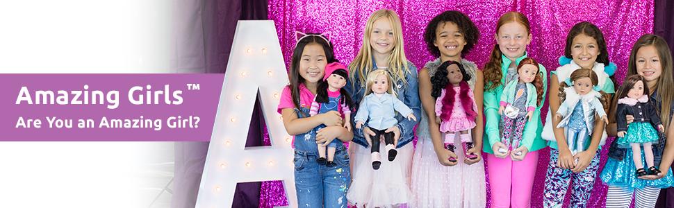 """adora, amazing girls, play doll, 18"""" dolls, fashion dolls, american girl, fun, cute, trendy, tween"""