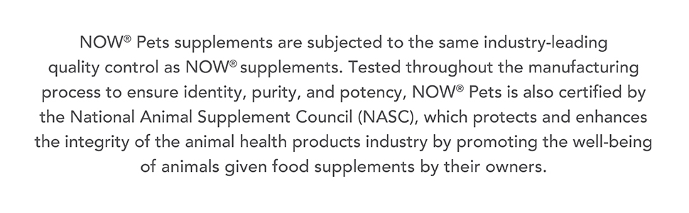 nasc national animal supplement council pet pets leading purity potency identity