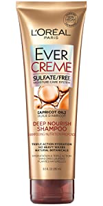 Ever, sulfate free, loreal, shampoo, conditioner