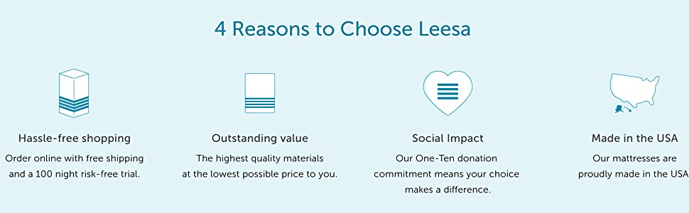 free trial, value  mattress, social impact, made in the usa mattress
