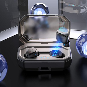 True Wireless Earbuds Bluetooth Earphones V5 0 with 3D Stereo Sound,Touch  Control Wireless Headphones 90H Playtime,IPX7 Waterproof Built-in Mic In