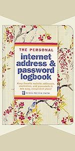 Blossoms & Bluebirds Internet Address & Password Logbook
