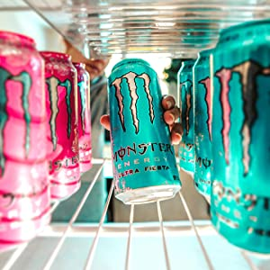 10 calories 0 sugar sugar-free lo carb diet energy can Monster energy drink